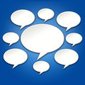 Chat Bubbles Conversation on Blue 3D Background - PhotoDune Item for Sale