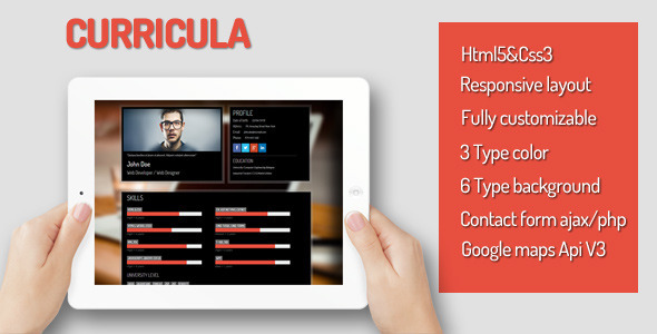 Curricula - Virtual Business Card Personal