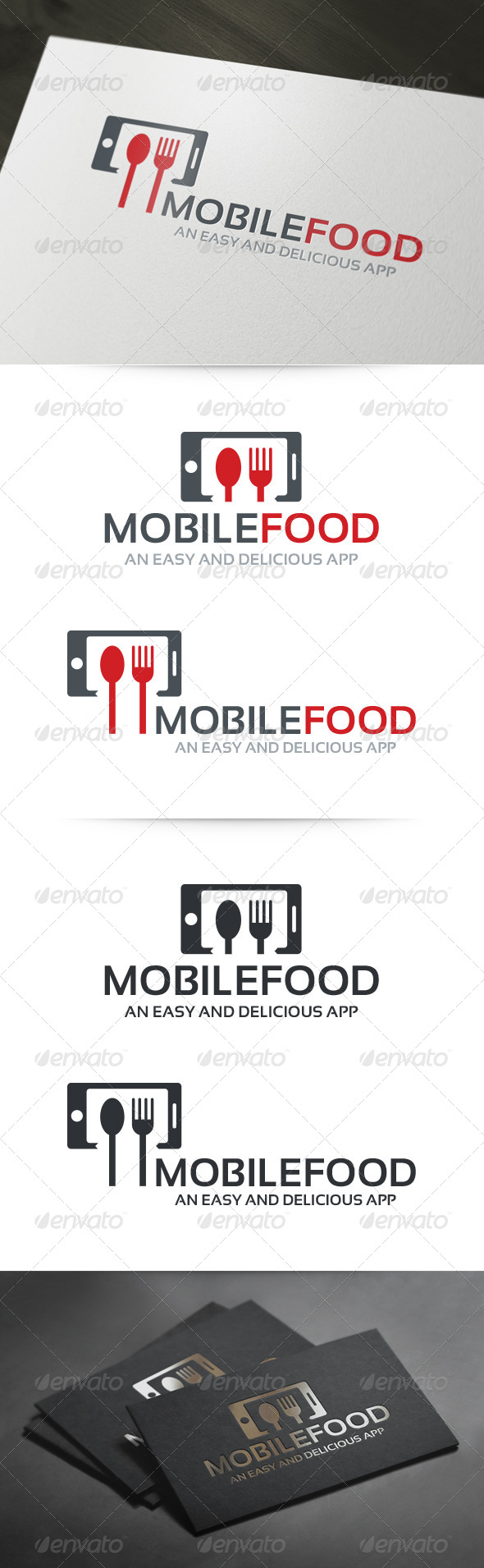 GraphicRiver Mobile Food Logo 6046626