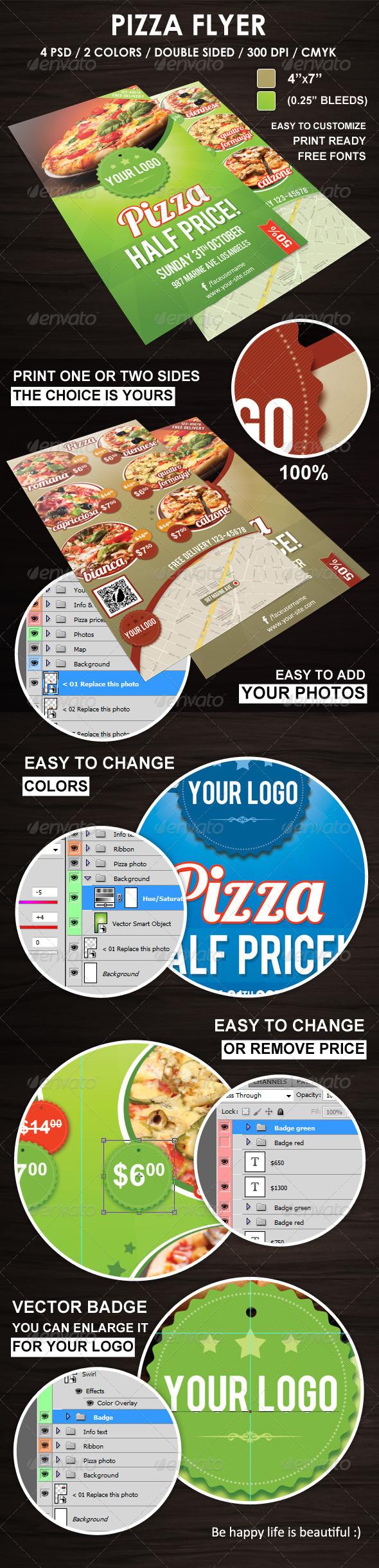 GraphicRiver Pizza Flyer 6006732