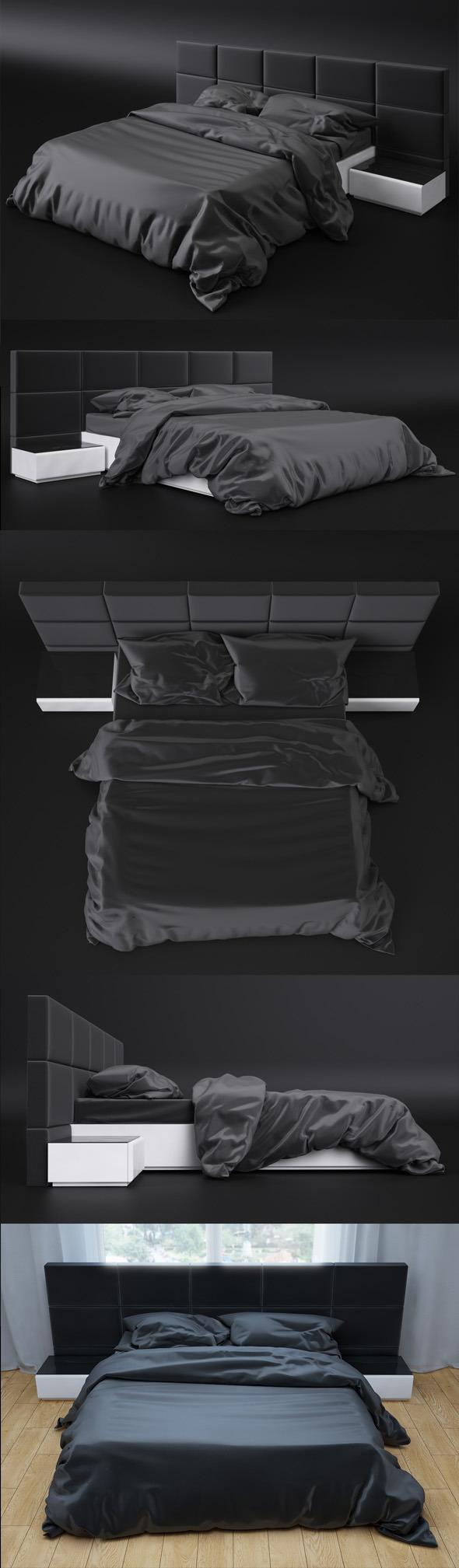 3DOcean Bed sicilia premium 3D Model 6048058
