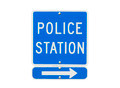 Police Station Sign Isolated - PhotoDune Item for Sale