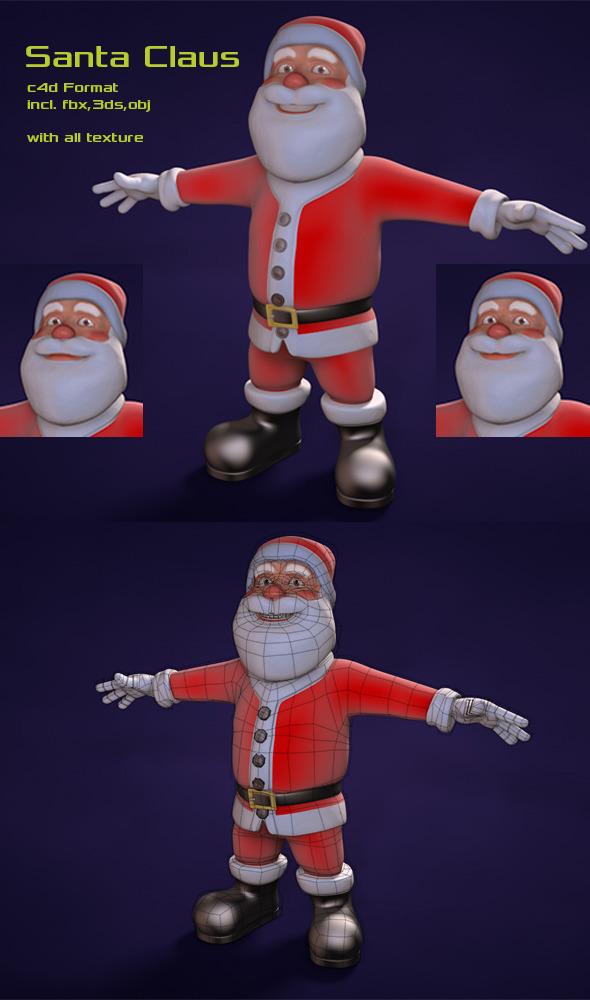 3DOcean Santa Claus 6048487