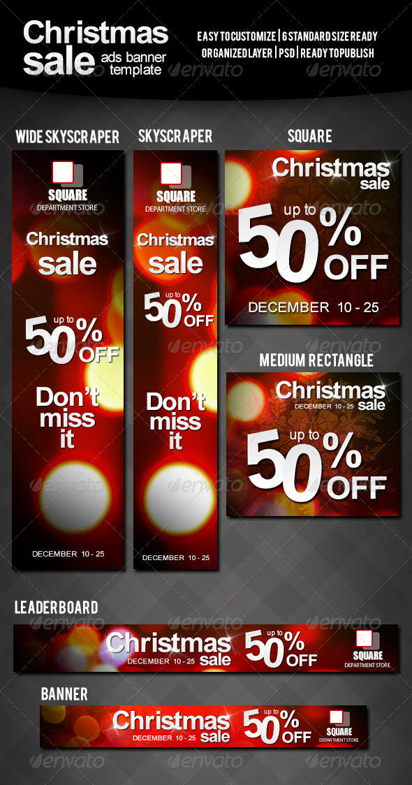 GraphicRiver Christmas Sale Ads Banner 6048676