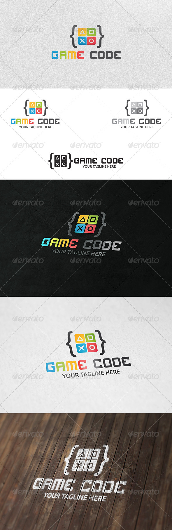 GraphicRiver Game Code Logo Template 6048962