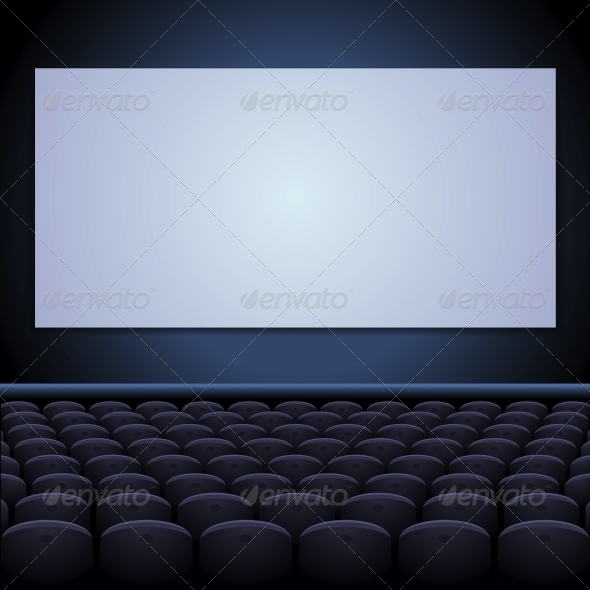 GraphicRiver Cinema Theatre with Screen and Seats 6048987
