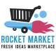 Rocket Market Vector Logo - GraphicRiver Item for Sale