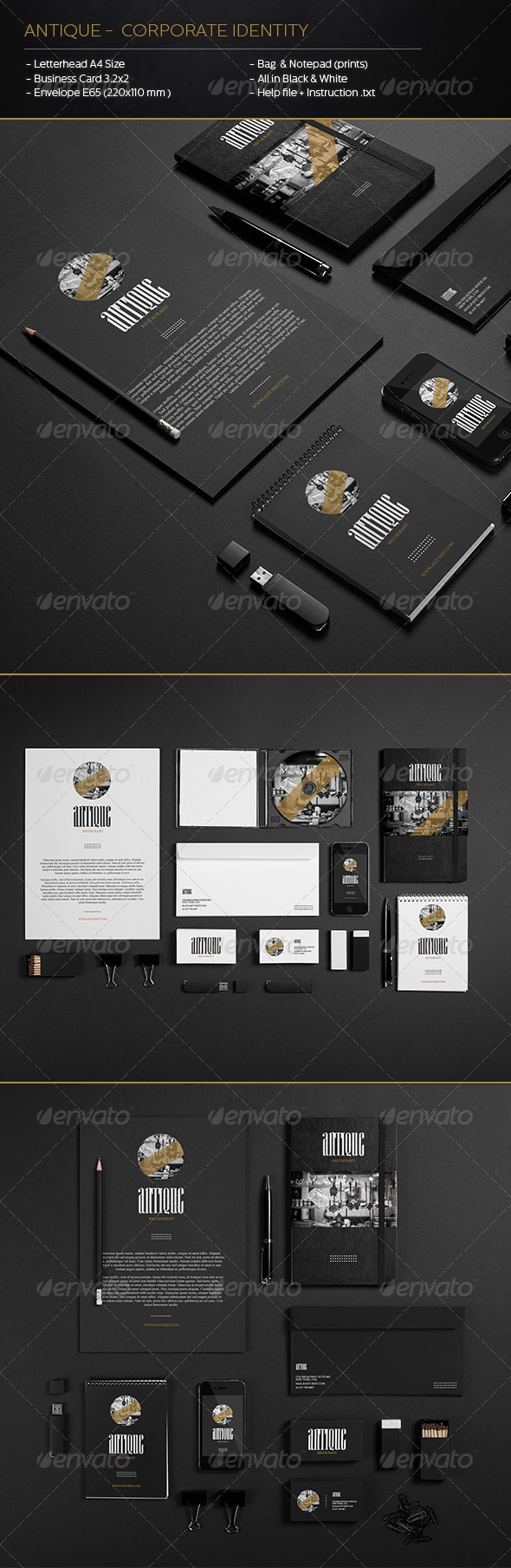 GraphicRiver Antique Corporate Identity 6049490