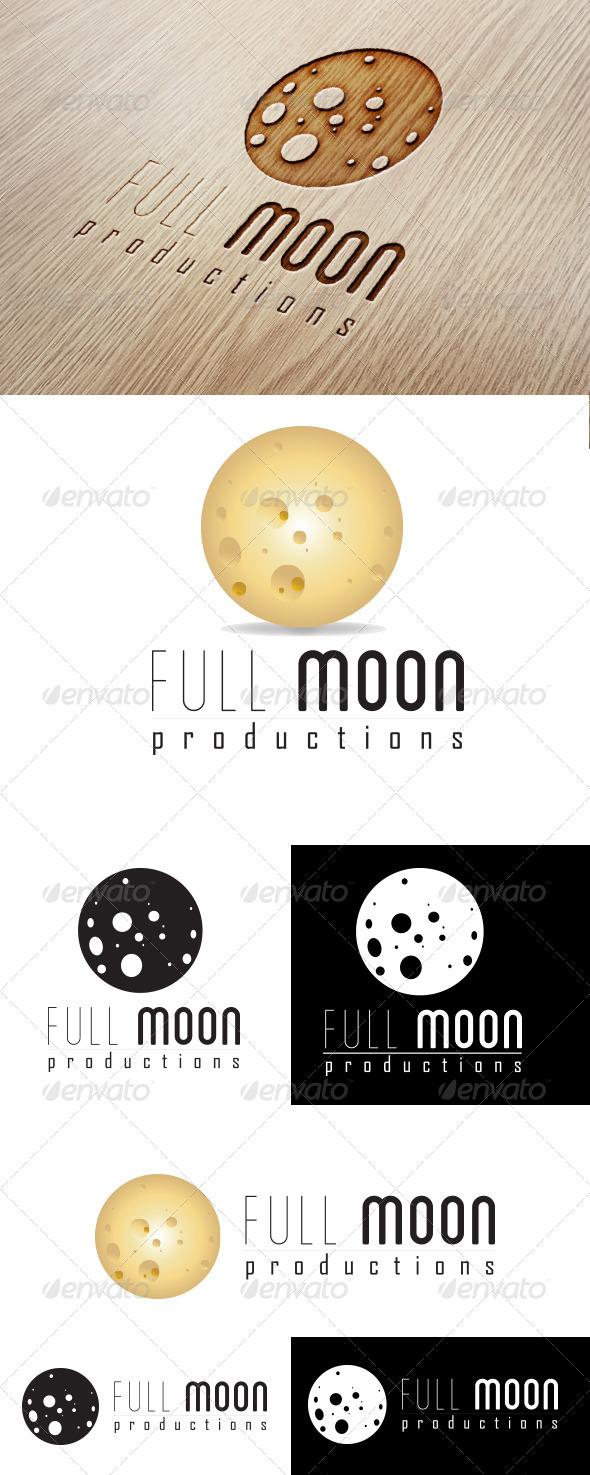 GraphicRiver Full Moon Production Logo 6049652