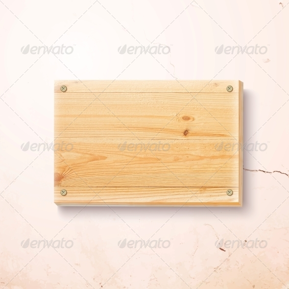 GraphicRiver Wooden Plate on a Concrete Background 6049759
