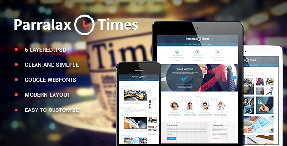 ThemeForest Parallax Times PSD 6049837