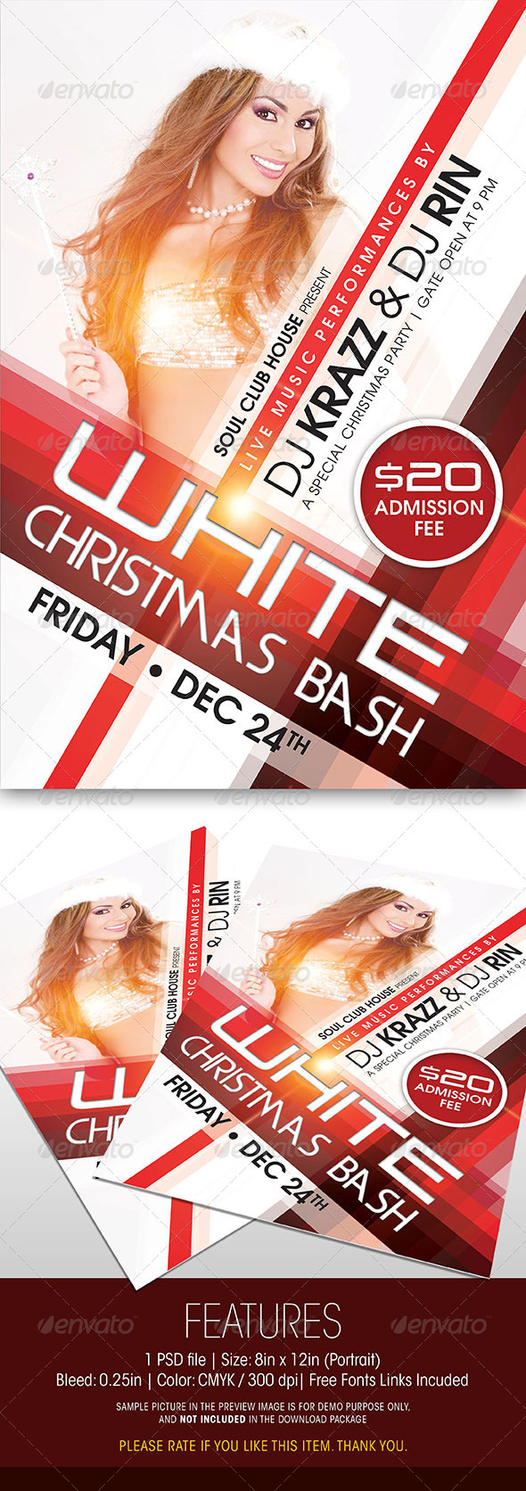 GraphicRiver Christmas Party Flyer 6050065
