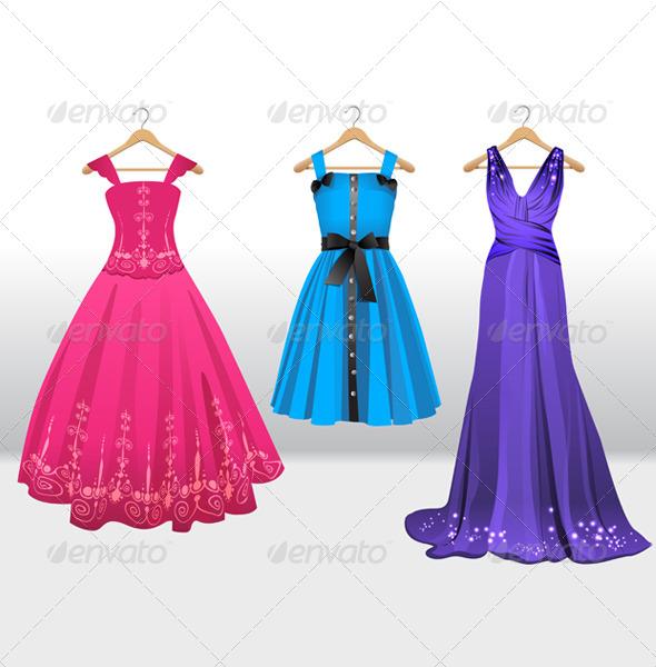 GraphicRiver Woman Dresses on Hanger 6038549