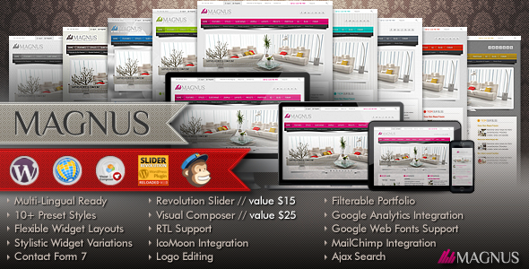 Magnus Multi-Purpose Responsive Wordpress Theme - Business Corporate