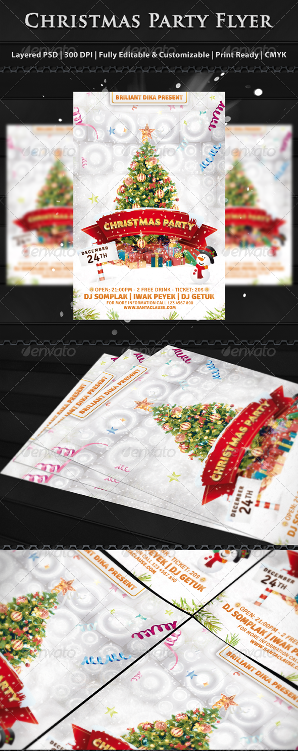 GraphicRiver Christmas Party Flyer Templates 6049767