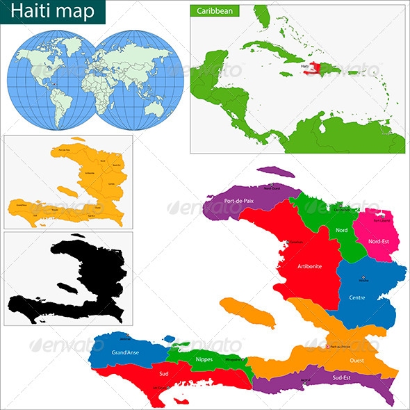 GraphicRiver Haiti Map 6051296