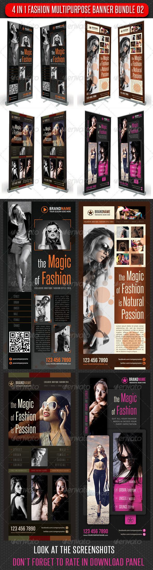 GraphicRiver 4 in 1 Fashion Multipurpose Banner Bundle 03 6018628