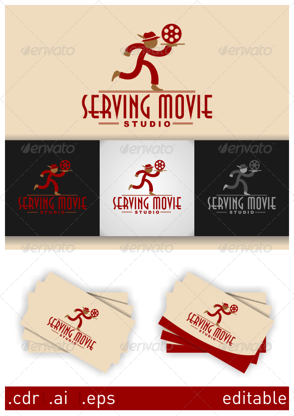 GraphicRiver Serving Movie Studio Logo 5943099