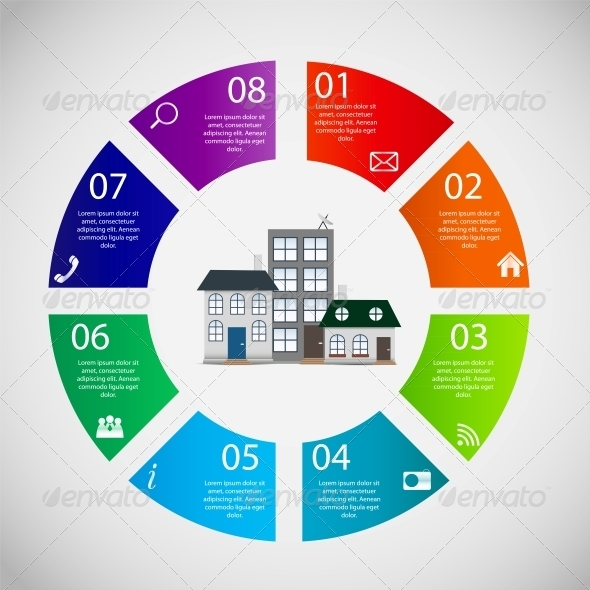 GraphicRiver Town Infographic Template Business Concept Vector 6051669
