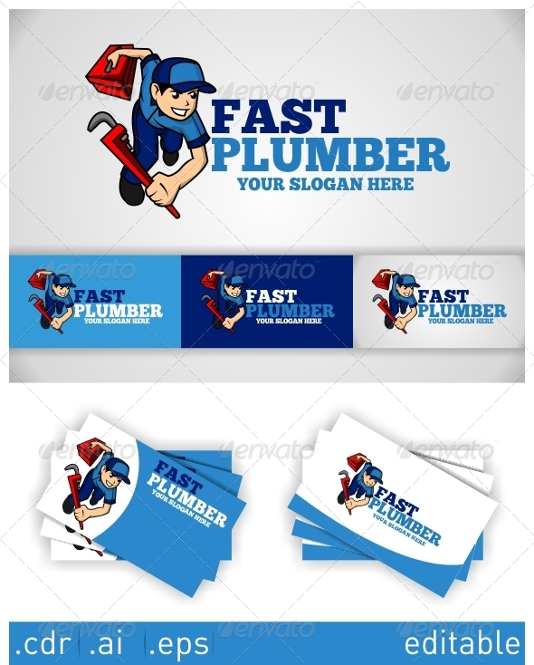 GraphicRiver Fast Plumber Logo 6051670