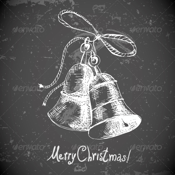 GraphicRiver Christmas Bell for Retro Design 6052130