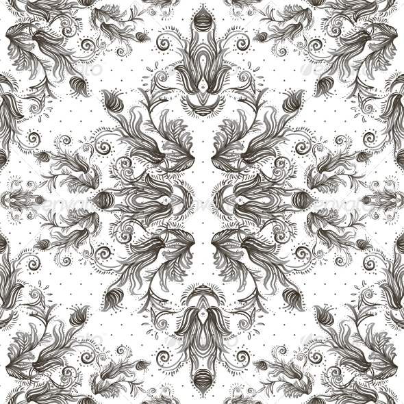 GraphicRiver Seamless Vintage Background Baroque Pattern 6052317