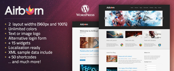 Airborn: Portfolio / Business WordPress Theme - ThemeForest Item for Sale