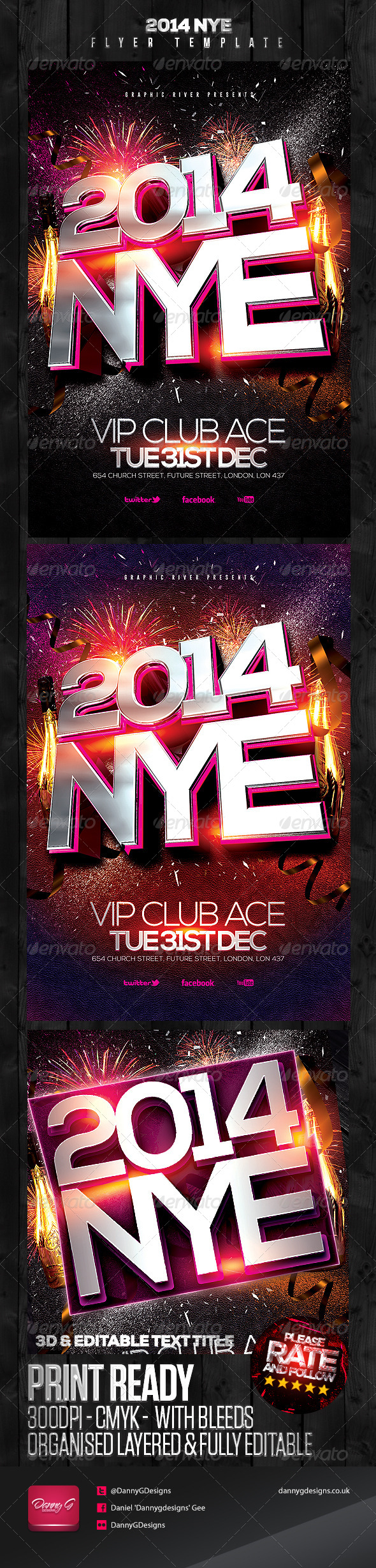 GraphicRiver 2014 NYE Flyer Template 6052478