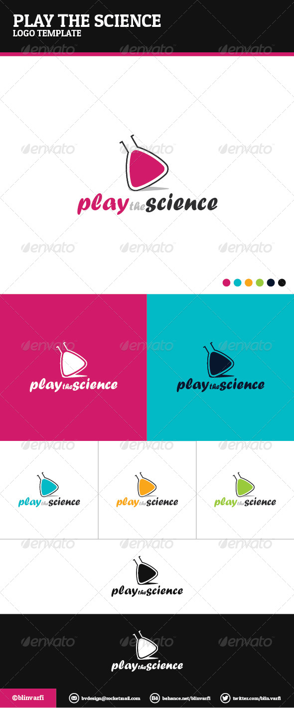 GraphicRiver Play the Science Logo Template 6052659