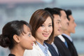 Asian Businesswoman leading a business team - PhotoDune Item for Sale