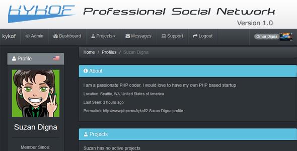 CodeCanyon Kykof Professional Social Network 6053835