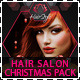 Hair Salon Fashion Christmas Advertising Pack - GraphicRiver Item for Sale