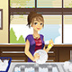 Housewife Washing Dishes - GraphicRiver Item for Sale