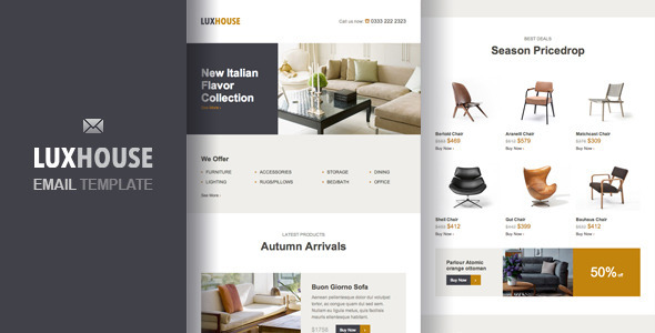 LuxHouse – eCommerce Email Template - Email Templates Marketing