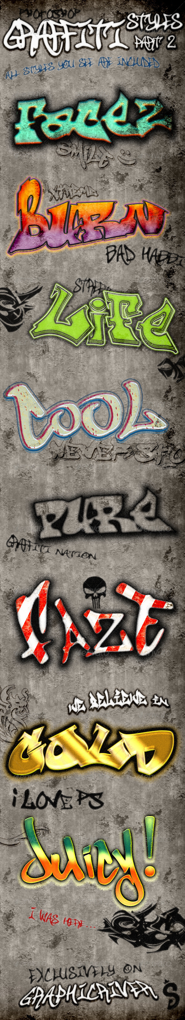 Graffiti Styles - Part 2 - Styles Photoshop