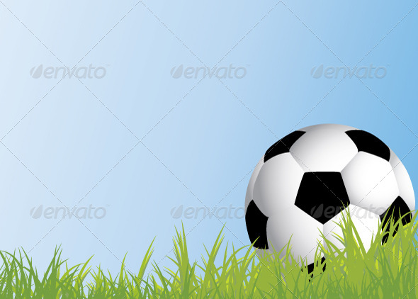 GraphicRiver Football On Grass 6055936