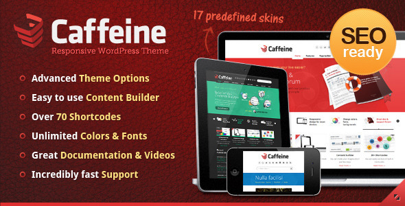 Caffeine Responsive WordPress Theme - Business Corporate