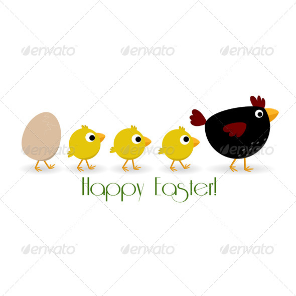 GraphicRiver Funny Easter Background 6056088