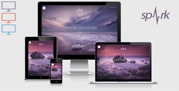 Spark - Responsive Unique HTML 5 Template - Creative Site Templates