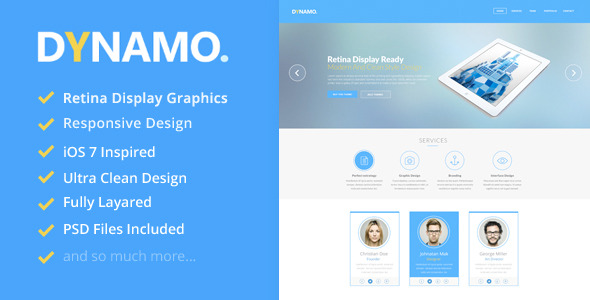 Dynamo - Retina Onepage WordPress Theme