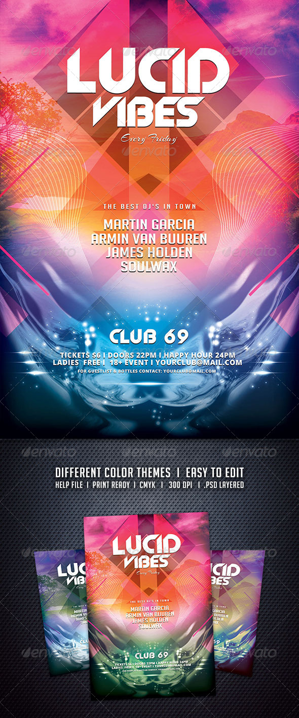 GraphicRiver Lucid Vibes Flyer 6056908