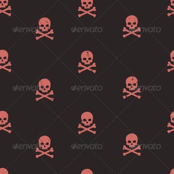 GraphicRiver Seamless Pattern with Skulls 6056906