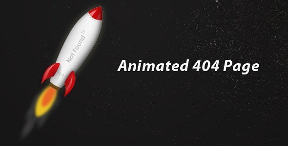 ThemeForest Animated Rocket 404 5983690