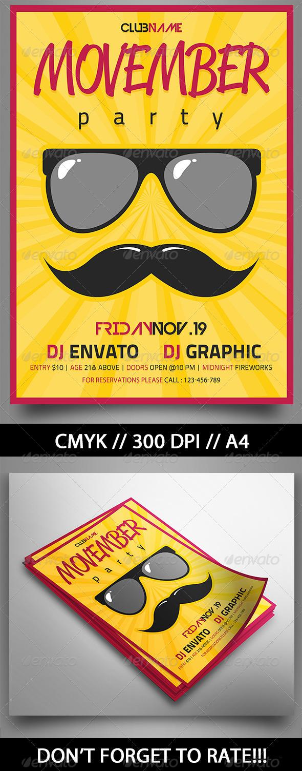 GraphicRiver Movember Party 6057016