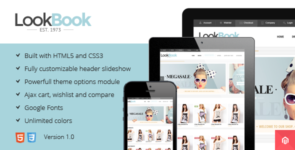 ThemeForest Lookbook Responsive & Retina Magento Theme 6057657