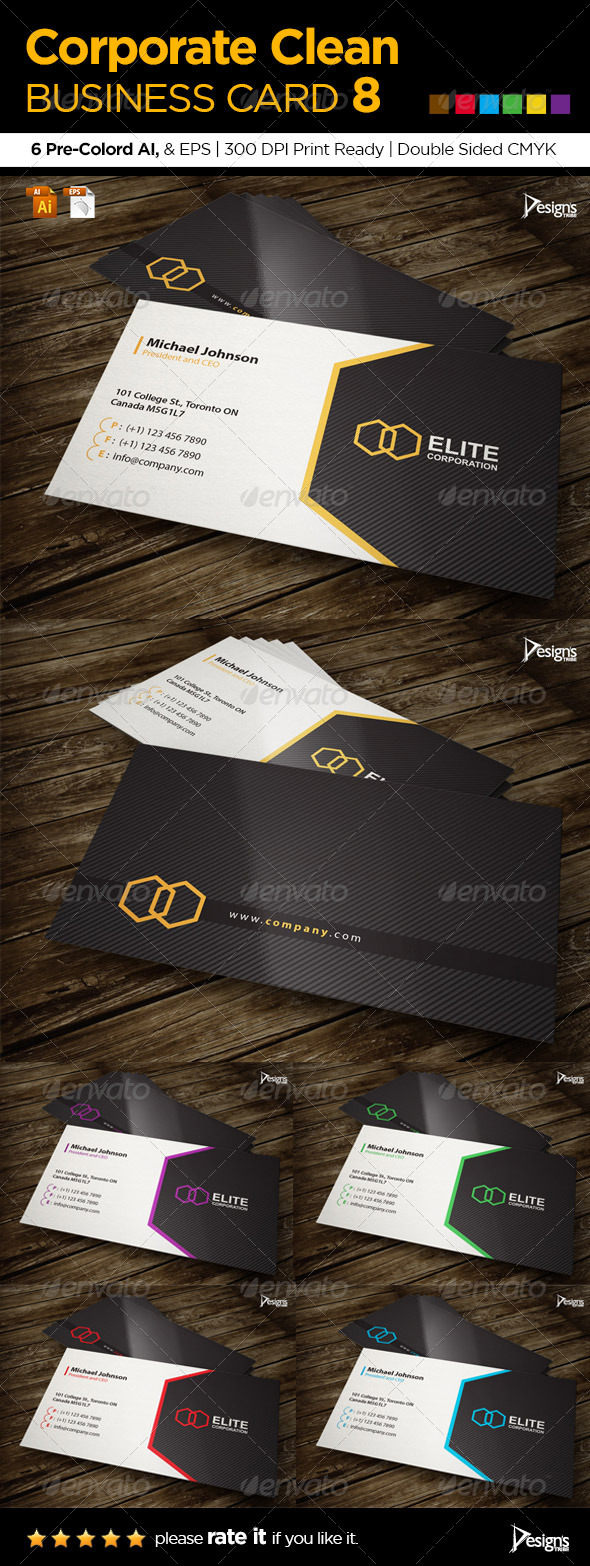GraphicRiver Corporate Clean Business Card 8 6057727
