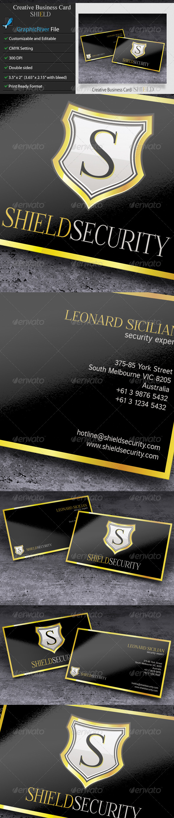 GraphicRiver Creative Business Card Shield 6012919