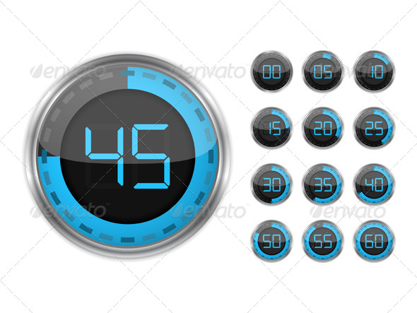 GraphicRiver Digital Timers 6057742