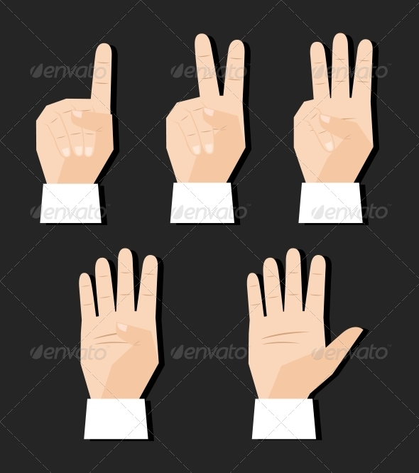 GraphicRiver Hand Counting Signs 6058086