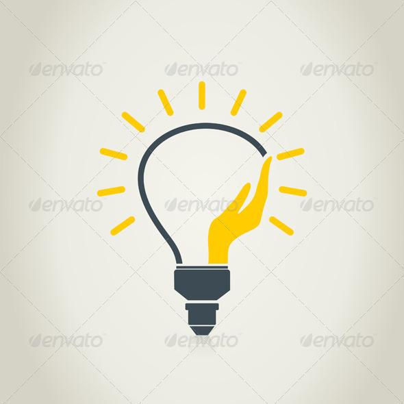 GraphicRiver Hand a Bulb 6058344